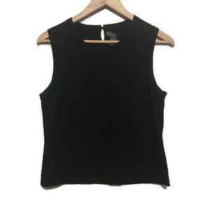 Banana Republic Silk Blend Black Sleeveless Shell